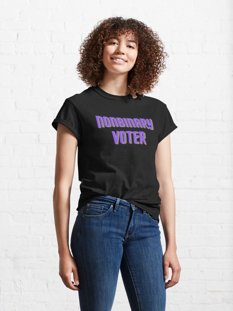 Alternate view of Nonbinary Voter Classic T-Shirt