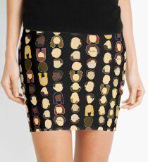 The Office Heads - Black Background Mini Skirt