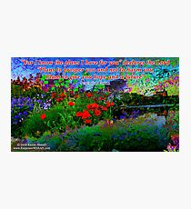 For I Know The Plans I Have For You Photographic Print