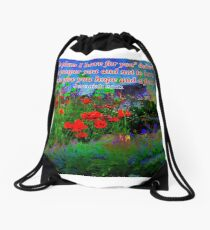 For I Know The Plans I Have For You Drawstring Bag