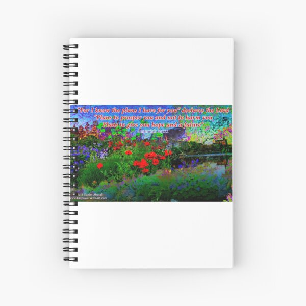 For I Know The Plans I Have For You Spiral Notebook
