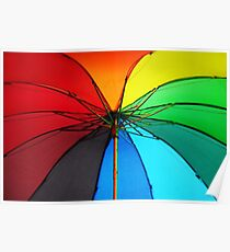 Jenny Rainbow Umbrella. Color your Day Poster
