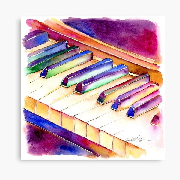 Colorful Piano Keyboard Canvas Print