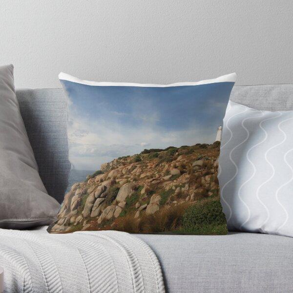 Cape Willoughby lighthouse Kangaroo Island Throw Pillow