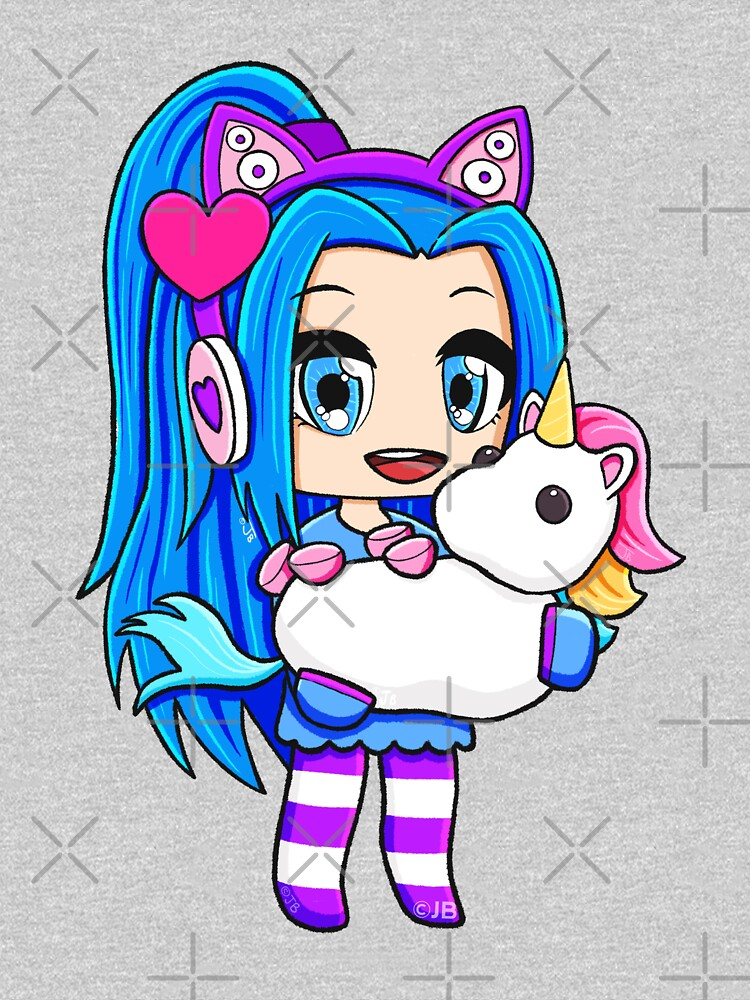 Blue Gacha Funneh with Unicorn by pickledjo