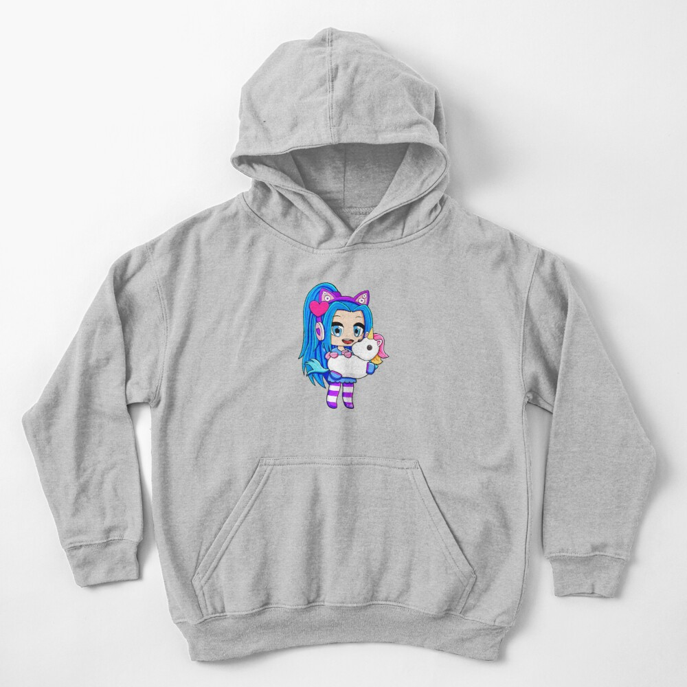 Blue Gacha Funneh with Unicorn Kids Pullover Hoodie