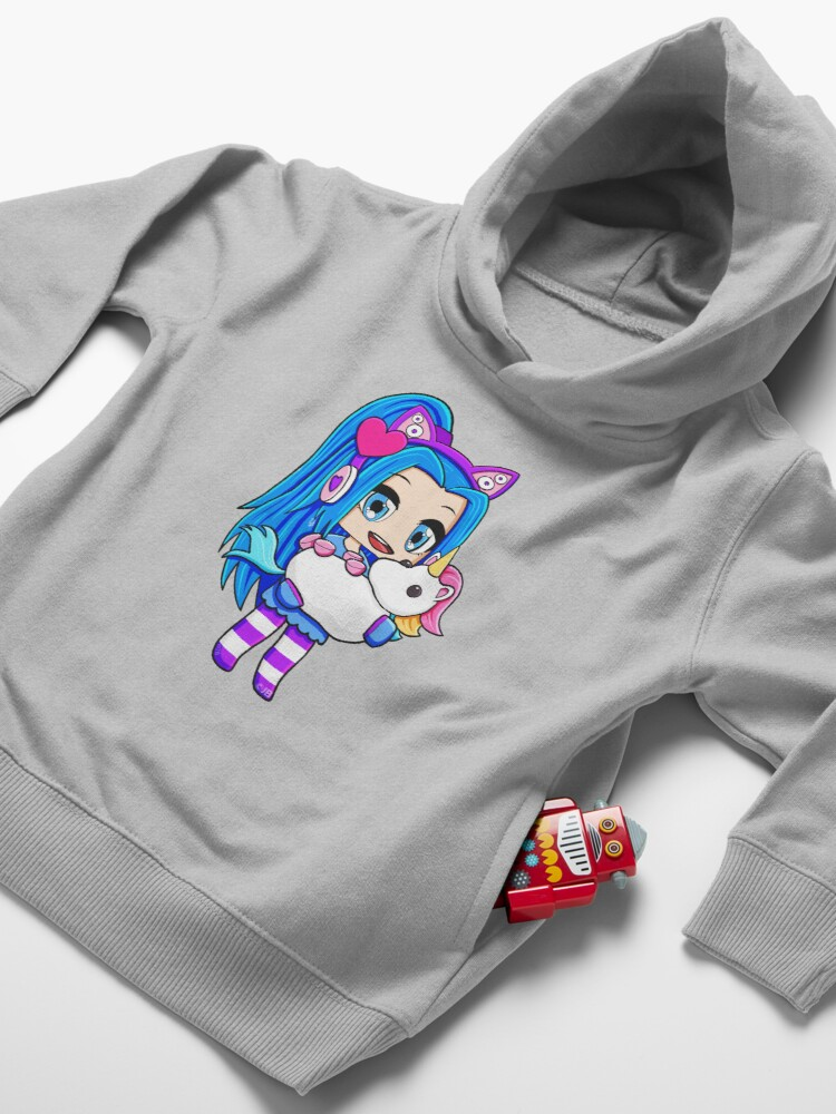 Alternate view of Blue Gacha Funneh with Unicorn Toddler Pullover Hoodie
