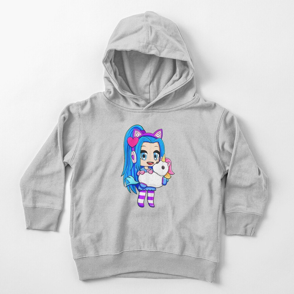 Blue Gacha Funneh with Unicorn Toddler Pullover Hoodie