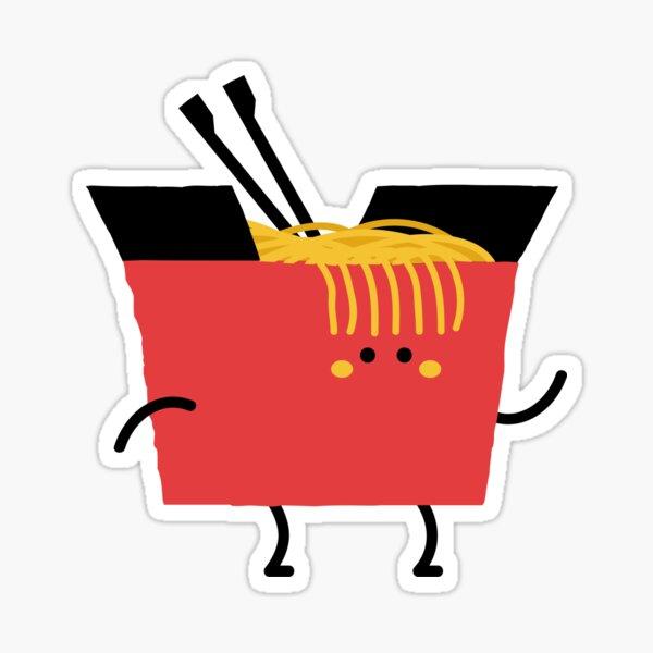 Kawaii Noodles Take-Out Box Sticker