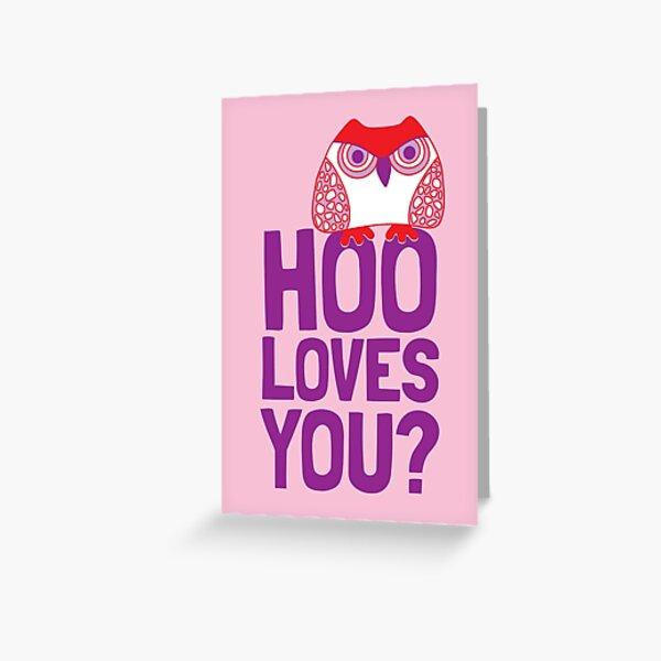 Valentine Owl Greeting Card