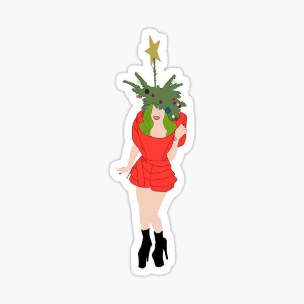 Lady Gaga Christmas  Sticker