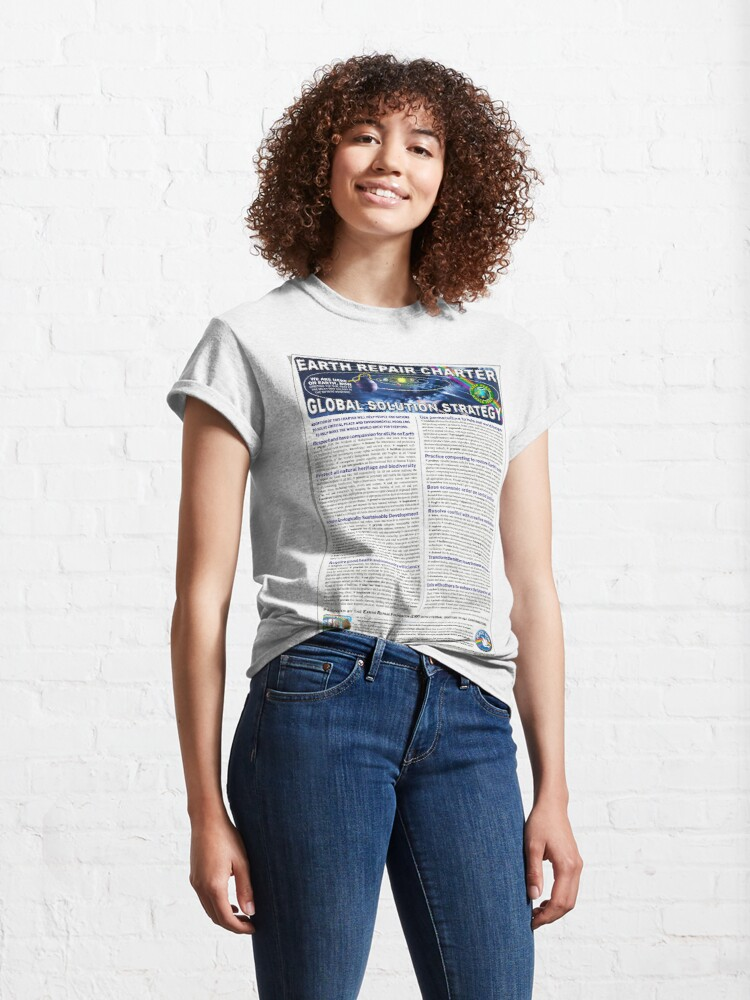 Alternate view of Earth Repair Charter Global Solution Strategy Classic T-Shirt