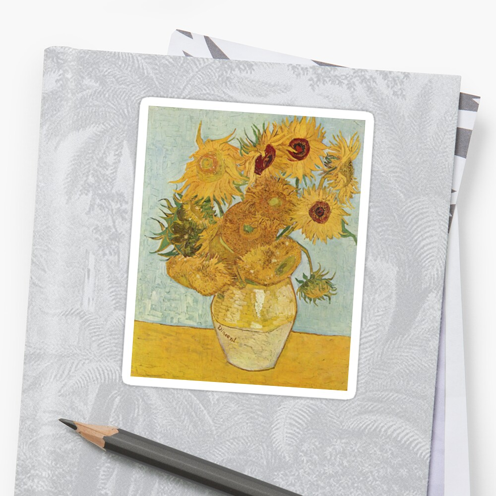 Vincent van Gogh's Sunflowers Sticker