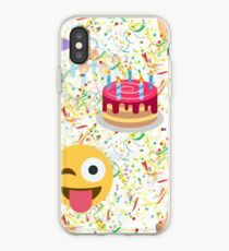 Happy Birthday Emoji IPhone Case