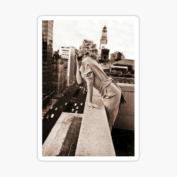 """Marilyn Takes Manhattan"" Series | MM Iconic Sepia Photo Sticker"
