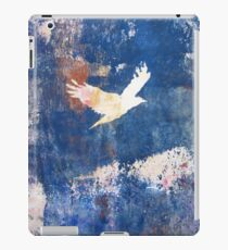 White Bird Flying Above the Clouds  iPad Case/Skin