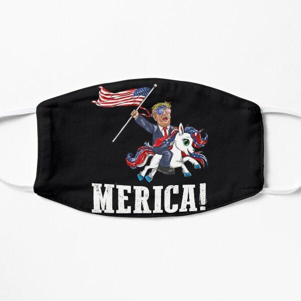 Merica Unicorn TrumpAmerica First American Flag Flat Mask