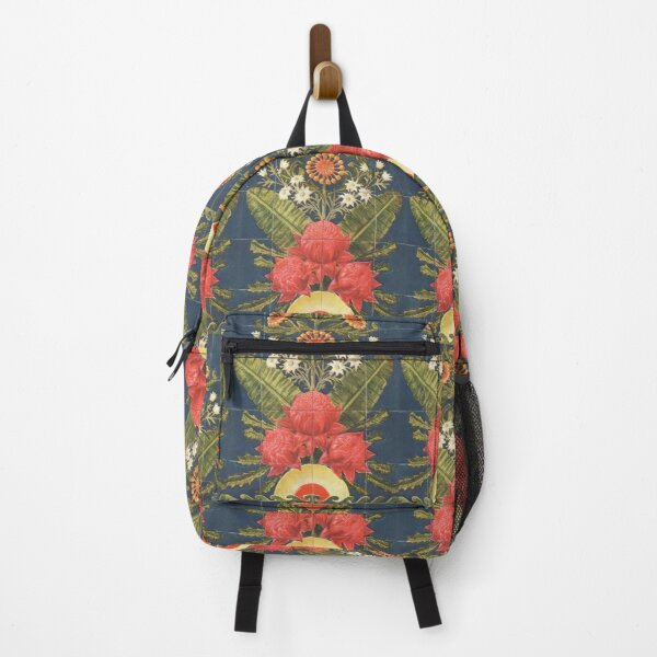 The Australian Flora in Applied Art - The Waratah (Blue) - Pillow Backpack