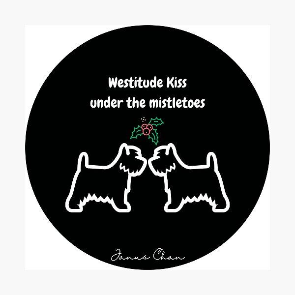 Westitude Kiss under the Mistletoes Photographic Print