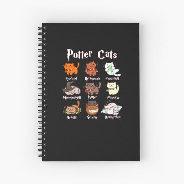 Cute Meow - Potter Cats Cute Harry Pawter Kitten Spiral Notebook