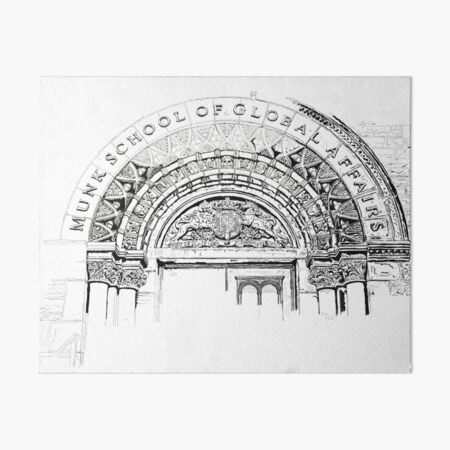 Architectural archway, ink sketch Art Board Print