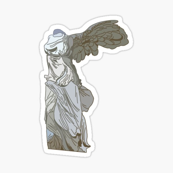 Nike of Samothrace (Winged Victory) Colored Sticker