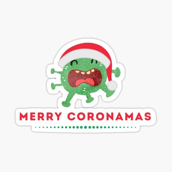Merry coronamas cute christmas in quarantine Sticker