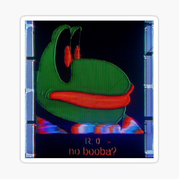 No Booba Sticker By Memeofthecrop Redbubble