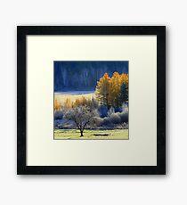 Landscape in Quebec  Framed Print