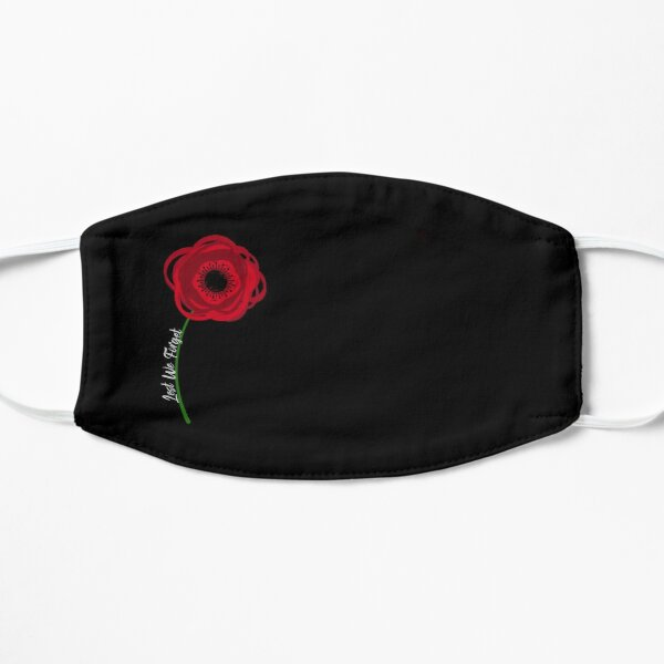 Single Poppy Flower for Remembrance Day - Lest We Forget Flat Mask