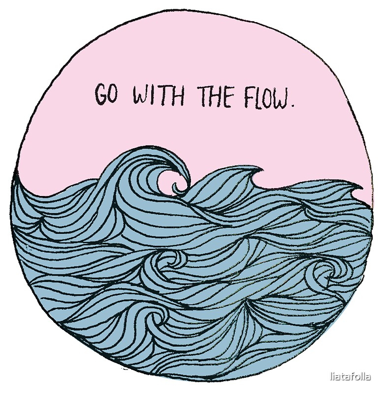 """""""Go With The Flow"""" Stickers by Lia Tafolla 