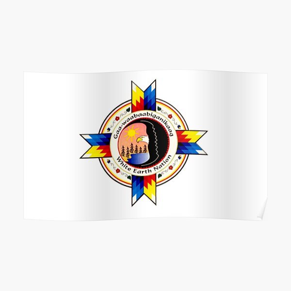 White Earth Band of the Ojibwe Flag Poster