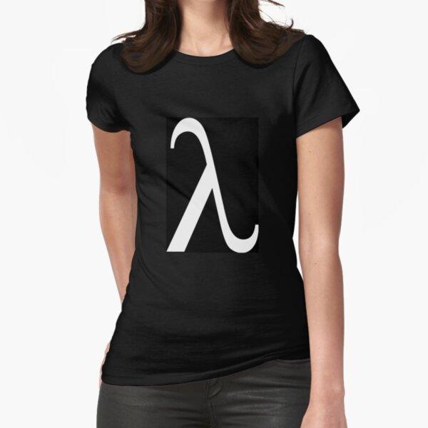 Lambda Symbol, #Lambda, #Symbol, #LambdaSymbol Fitted T-Shirt