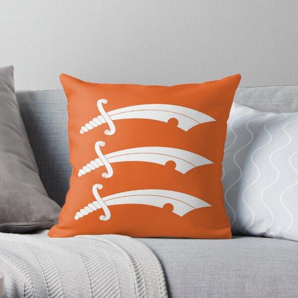 Essex County Three Saxe Swords Throw Pillow