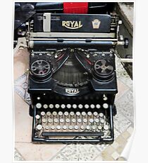 Old style Royal typewriter with ribbon  Poster
