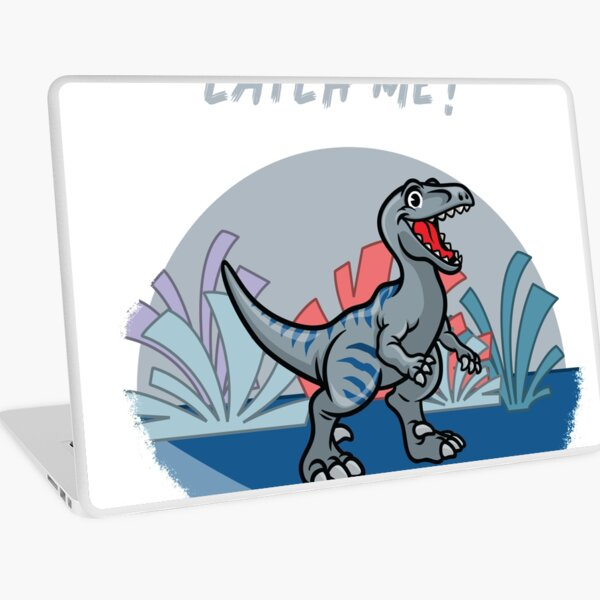 Bet You Can't Catch Me Dinosaur Laptop Skin