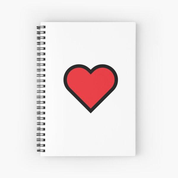 Smiley Heart, Emoji Spiral Notebook