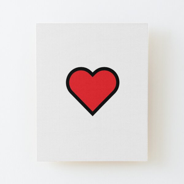 Smiley Heart, Emoji Wood Mounted Print