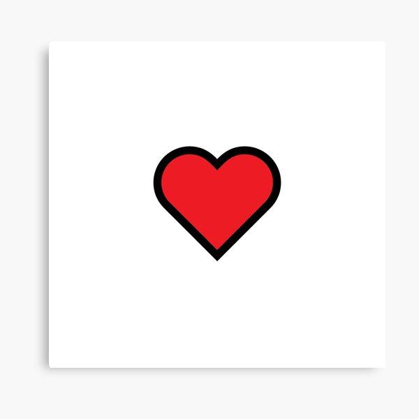 Smiley Heart, Emoji Canvas Print