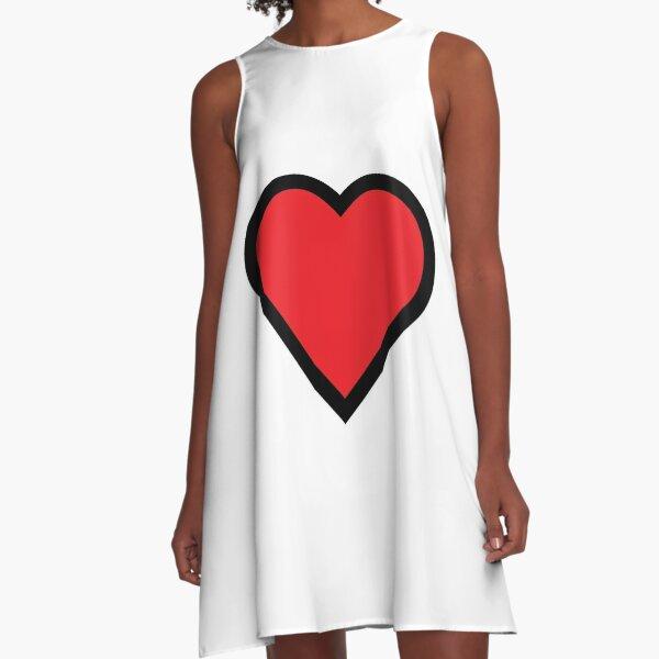 Smiley Heart, Emoji A-Line Dress