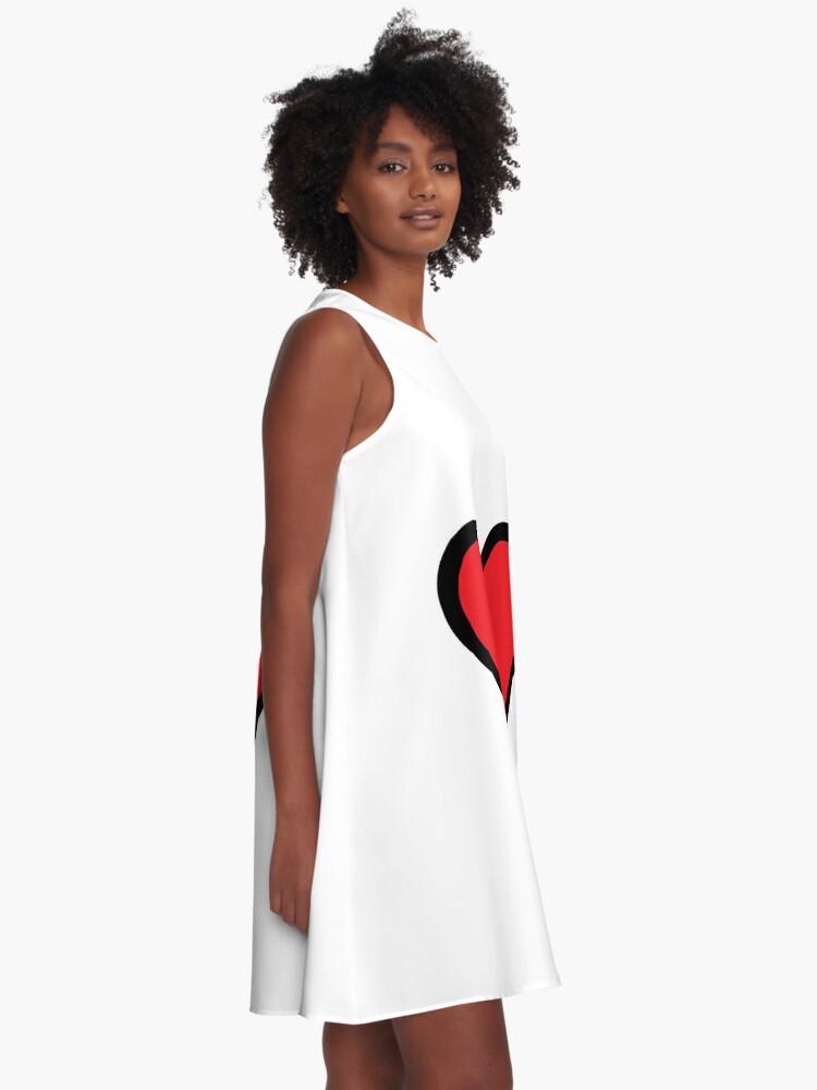 Alternate view of Smiley Heart, Emoji A-Line Dress