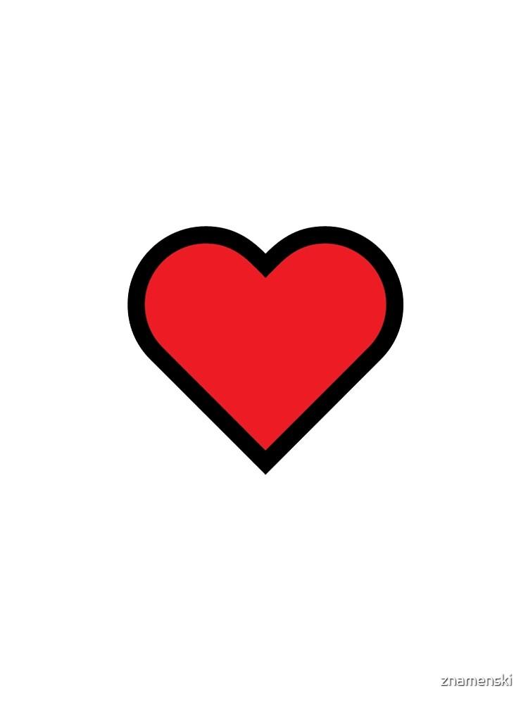 Smiley Heart, Emoji by znamenski