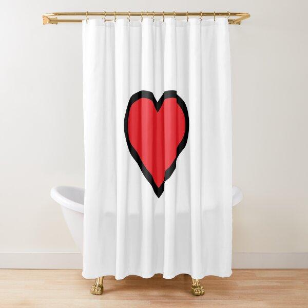 Smiley Heart, Emoji Shower Curtain