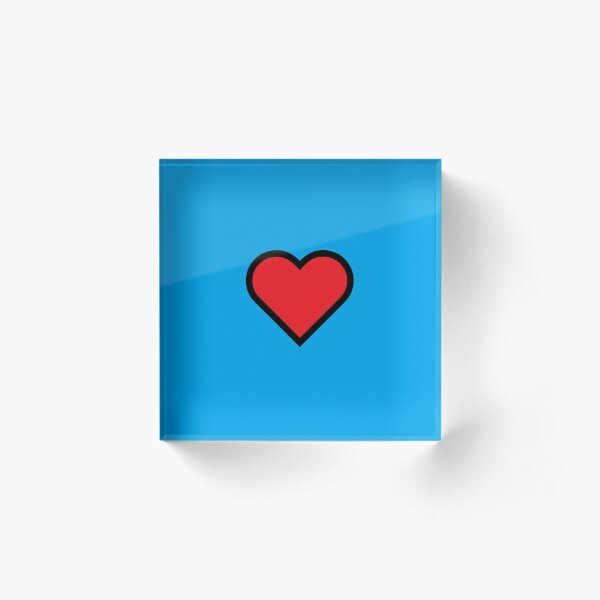 Smiley Heart, Emoji Acrylic Block
