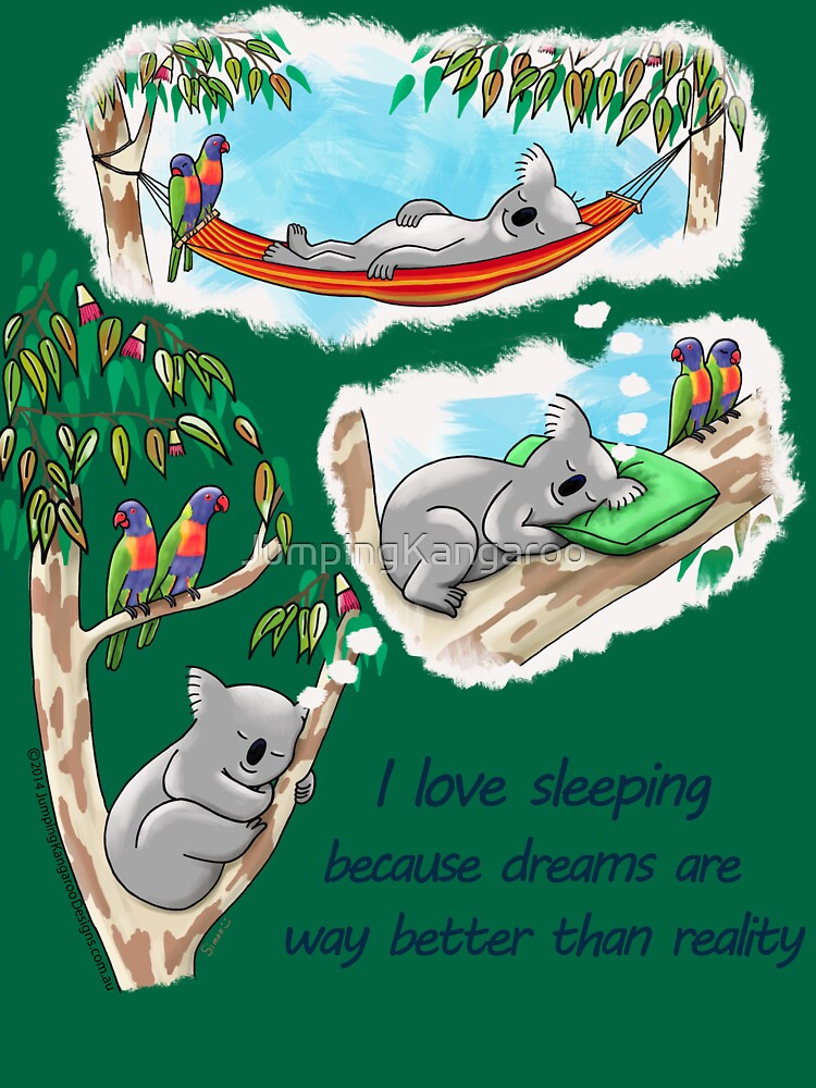 Koala dreams - I love sleeping by JumpingKangaroo