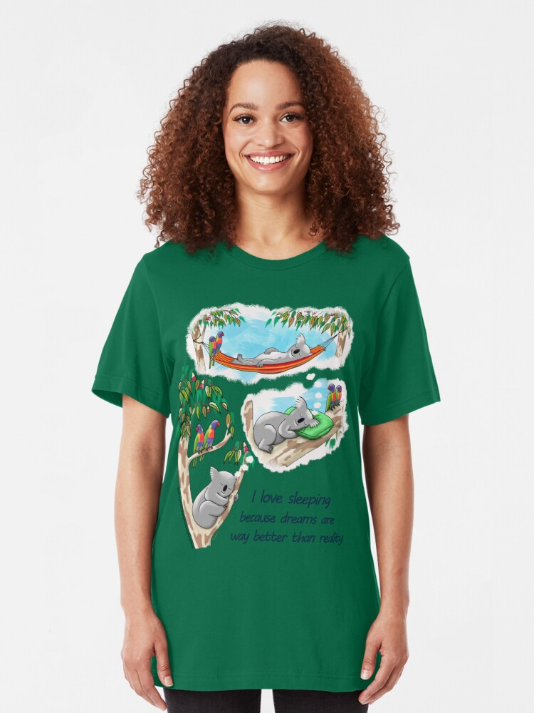 Alternate view of Koala dreams - I love sleeping Slim Fit T-Shirt