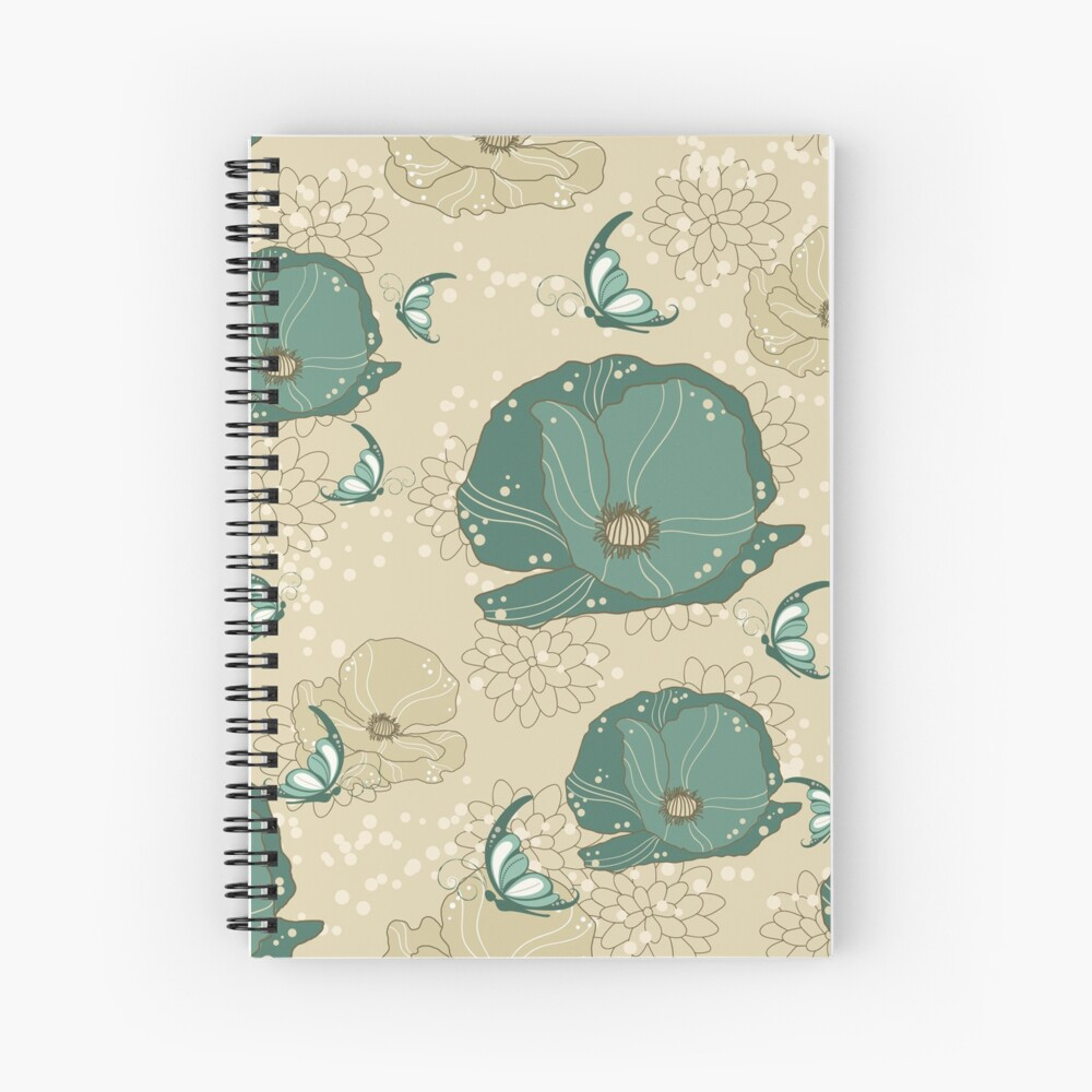 Print with refinement Spiral Notebook