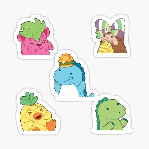 Moriah Elizabeth pickle the dinosaur sticker pack Sticker
