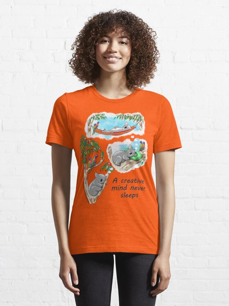 Alternate view of Koala dreams - A creative mind never sleeps Essential T-Shirt
