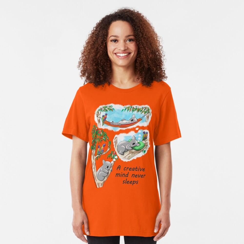 Koala dreams - A creative mind never sleeps Slim Fit T-Shirt